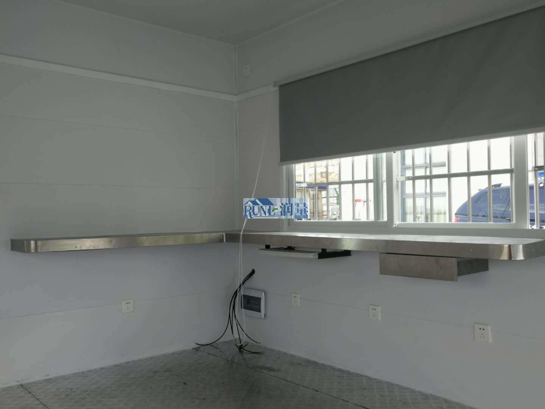 高铁站公安治安执勤警务岗亭内部结构