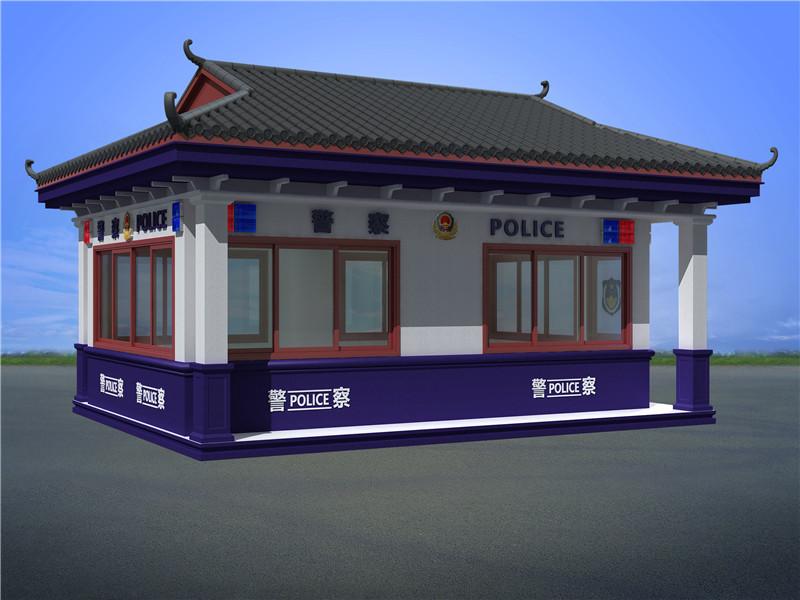 广西南宁高铁火车站警察治安执法岗亭