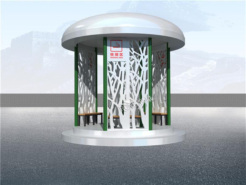 吸烟亭打造文明吸烟环境 -- 助力美丽曲请建设
