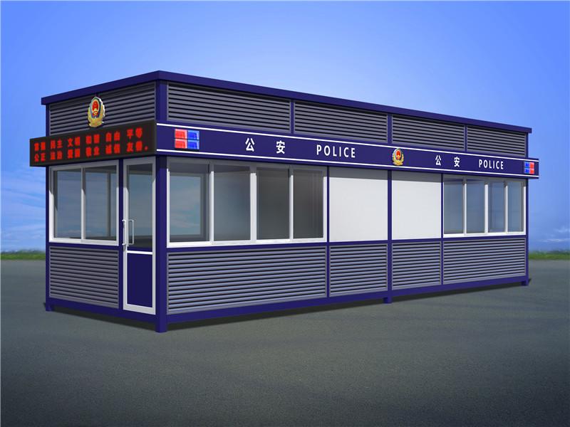 广西贺州高铁火车站警察治安执法岗亭定做