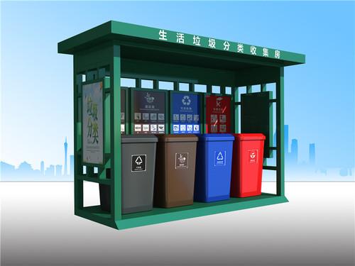 敞开式垃圾分类投送站